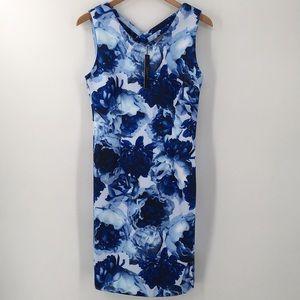 T Tahari Dresses - T Tahari Sleeveless Floral Printed Scuba Dress